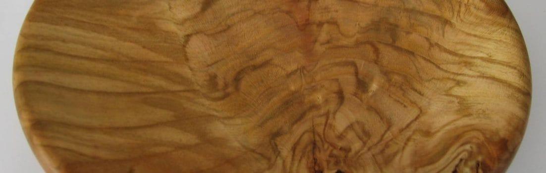 Cherry Platter 250mm - root burl - David Woollard