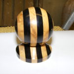 African Black Wood & Boxwood - Ball blank + stand  - Roland Doxsey
