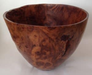 Brown Oak Burr - wet - David Woollard