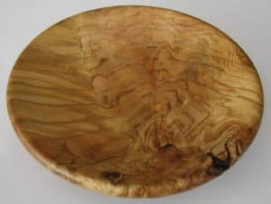 Cherry Platter 250mm - root burl - David Woollard